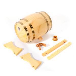 NEW-5-Liter-For-Storage-Wine-Whiskey-Spirits-Pine-wood-Barrel-Wooden-Kegs-US