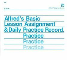 Lesson Assignment and Practice Record by Palmer, Willard A., Manus, Morton, Let