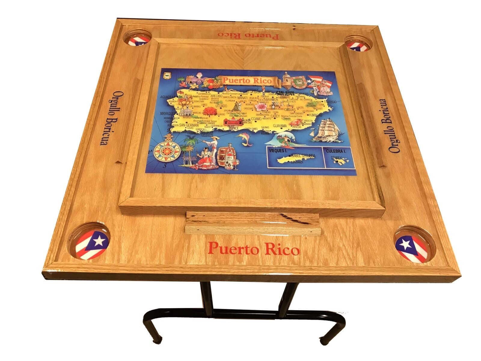 Puerto Rico Domino table avec la carte