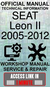 #ACCESS officina ufficiale di collegamento Manuale servizio e riparazione Seat Leon II 2005-2012