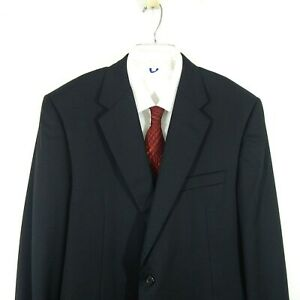 black HICKEY FREEMAN jacket blazer sport coat classic 2 button business 44R
