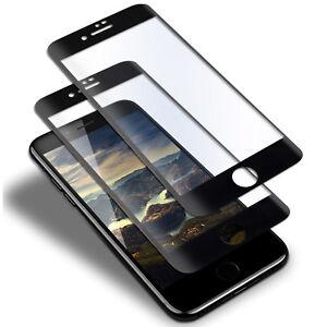 2x-9-H-Full-Cover-Verre-Trempe-pour-iPhone-7-8-dur-9-H-3D-protecteur-d-039-ecran