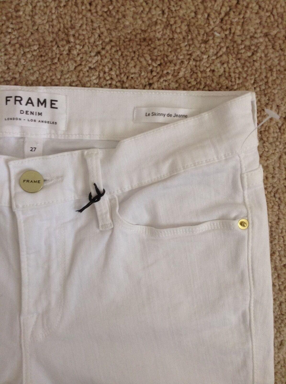 NEW FRAME DENIM  Le color Le Skinny de Jeannewhite (White)27 waist