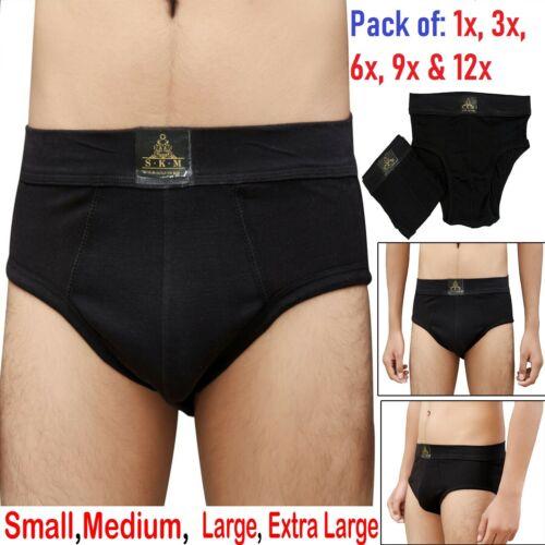 1 3 6 9 12x Mens Briefs Shorts Underwear Cotton Stretch Plain Sizes S M L XL Lot