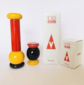 🔴 collezione ALESSI Twergi red Design Ettore Sottsass new in box