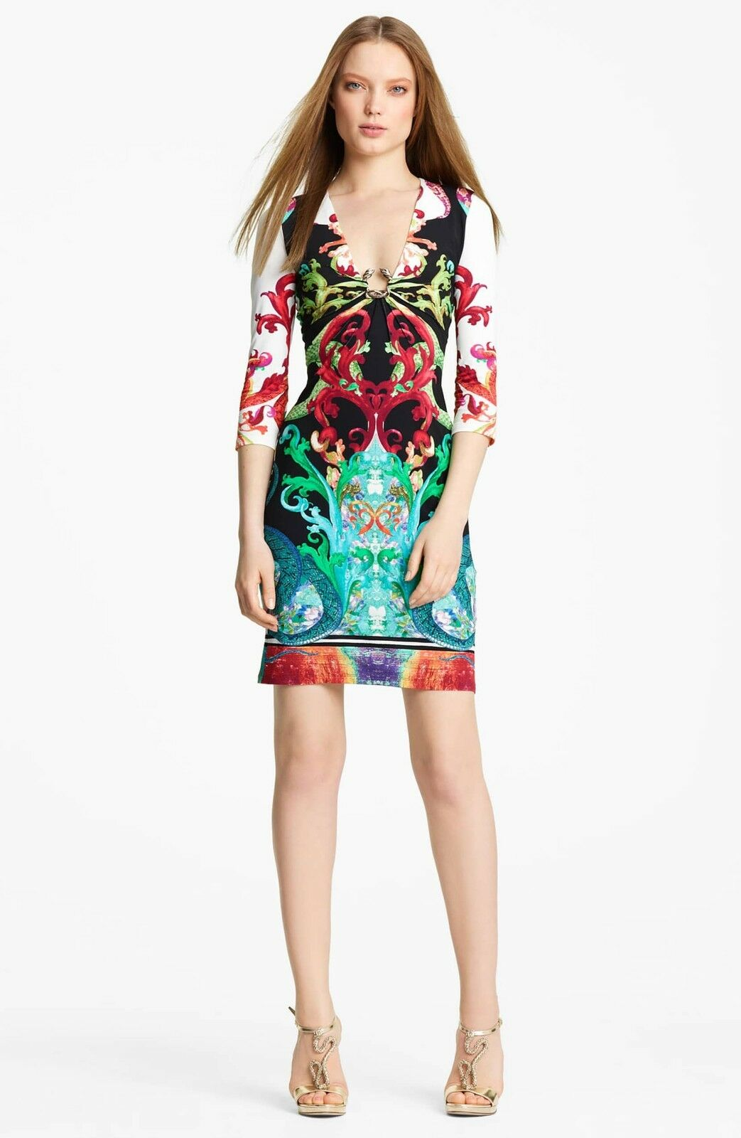 Roberto Cavalli Print Jersey Dress ( 40 IT- 4 US)