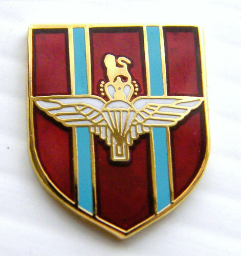 THE PARACUTE REGIMENT PARAS ARMY BADGE MILITARY DETAIL LEATHER KEYRING FOB GIFT