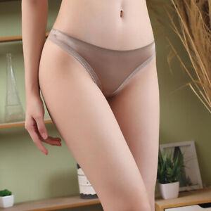 Women-Ice-Silk-G-string-Briefs-Panties-Seamless-Thongs-Underwear-Lingerie-M-XL