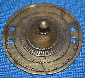 Antique Ethiopian Bronze Shield Embellishment, Handmade Pendant Ethiopia, Africa
