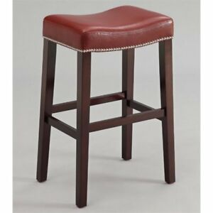 Outstanding Acme Lewis Collection 2 Set Counter Height Stool In Red And Espresso 96295 Theyellowbook Wood Chair Design Ideas Theyellowbookinfo