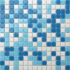 1qm mosaik wand fliesen matte glas blau wei bad dusche schwimmbad mt0106x10 ebay. Black Bedroom Furniture Sets. Home Design Ideas