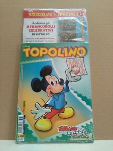Impartial Topolino 90 Anni Francobolli Metallici N.3288 3289 3291 3292 Blisterati Completa