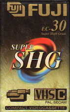2x FUJI SUPER SHG EC-30 VHS-C CAMCORDER S High Grade Cassette PAL SECAM Neu OVP