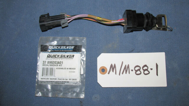 mercury boat inboard ignition switch 87 897716k01 3 position ebay rh ebay com