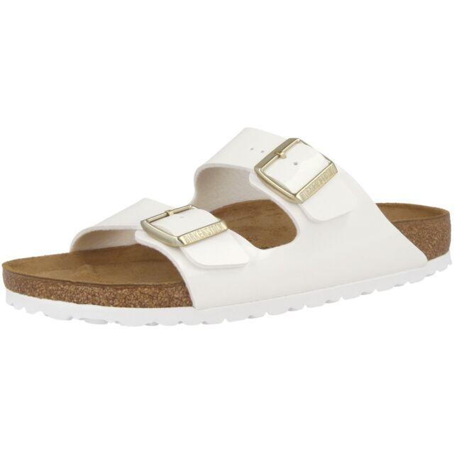 Birkenstock Arizona Birko Flor Lack Schuhe Sandalen Patent Lack Pantoletten Clog