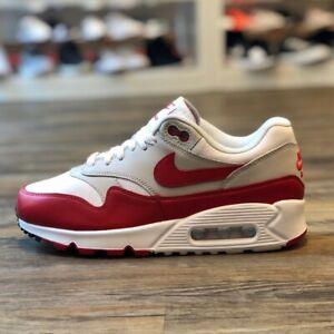 Details zu Nike Air Max 90 Leder Gr.38,5 Schuhe Sneaker Turn weiß Neu AQ1273 100