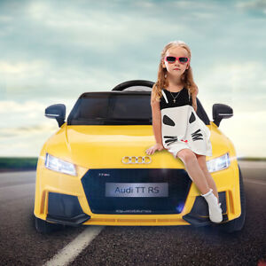 Audi-TT-12V-Electric-Kids-Ride-On-Car-Licensed-MP3-R-C-Remote-Control-Yellow