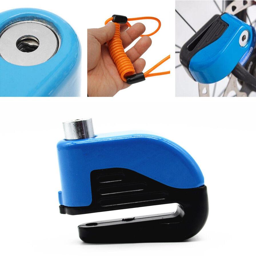 Motorcycle Anti-theft Disc Brake Lock Security Reminder Cable Alarming Tool Kit