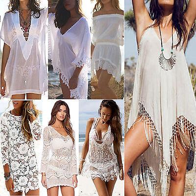 Lot Summer Women Bathing Suit Lace Crochet Bikini Swimwear Cover Up Beach Dress