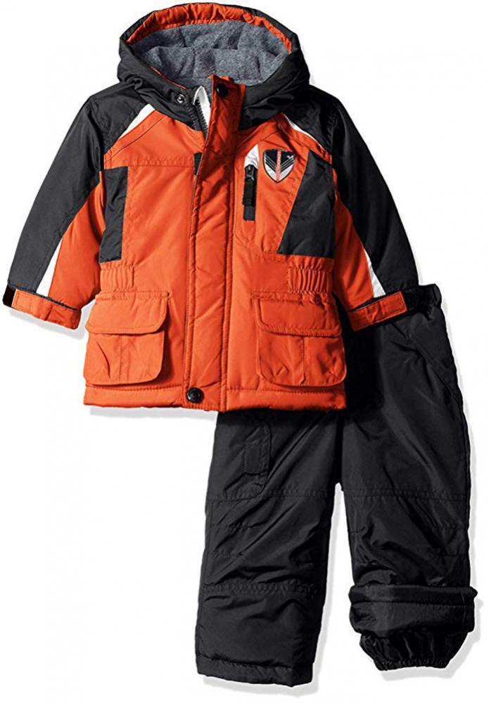London Fog Infant Girls Navy /& Gold 2pc Snowsuit Size 12M 18M 24M