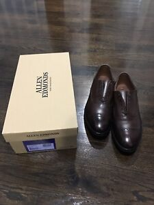 Allen-Edmonds-Fifth-Avenue-Brown-Coffee-Leather-Dainite-Rubber-Soles-8-5-E