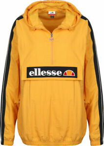 Ellesse-Overhead-Jacket-Marnia-Yellow-Lightweight-Track-Top-10uk-New