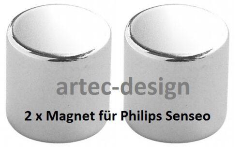 vernickelt /& wasserresistent 2 x Magnet für Senseo HD 7825 7826 7827 7828 7829