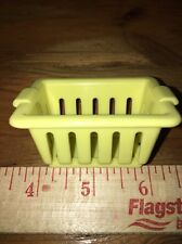 Fisher Price Loving Family Yellow Laundry Basket 1994 Dollhouse Fun Fits Barbie