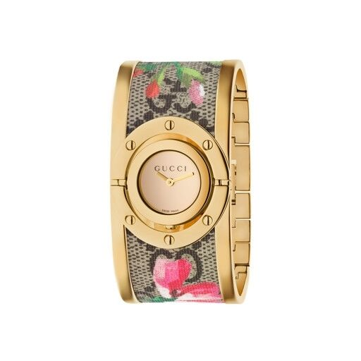 5df51245344 Gucci 112 Twirl Ladies Gold Tone Plated Stainless Steel Quartz Watch  YA112443 for sale online