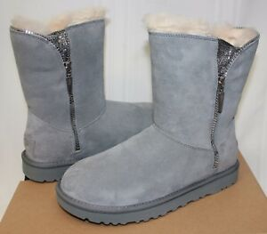 3ee71271588 Details about UGG Women's Marice Geyser Grey Suede zipper boots New With  Box!