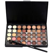 Cosmetic Matte Eyeshadow Cream Eye Shadow Makeup Palette Shimmer + Brush Set UK