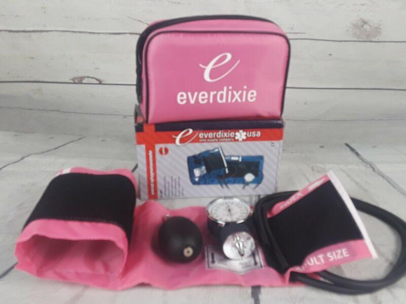 Everdixie Aneroid Sphygmomanometer Adult Pink New