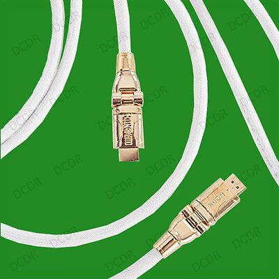 3 Metri 24k Ad Alta Velocità Placcato Oro Hdmi Intrecciato Regolabile Lead Wire Del Cavo 1080p-