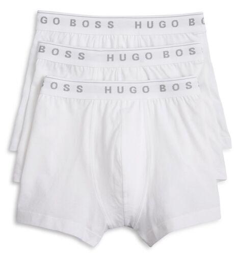 Boss-Hugo Boss Men/'s White Cotton Boxer Shorts 3 Pack