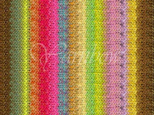 NORO ::Taiyo #75:: cotton silk wool yarn Lemon-Lime-Brown-Aqua-Red-Pink