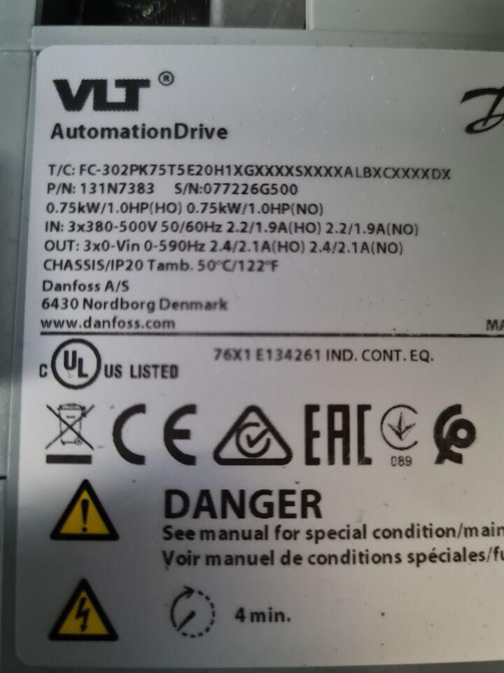 Frekvensomformer, Danfoss FC302 1,1 kW