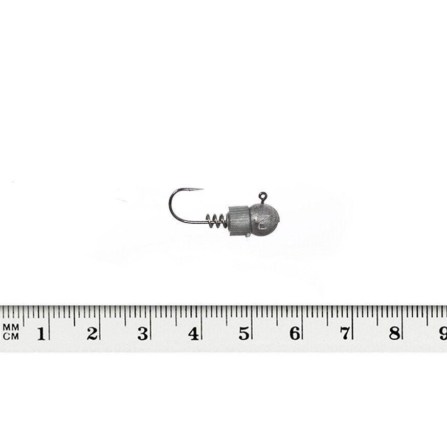 Jig Heads SASAME Hannibal 5 Pc Cork Screw Leurres doux leurre de pêche Crochets Predator
