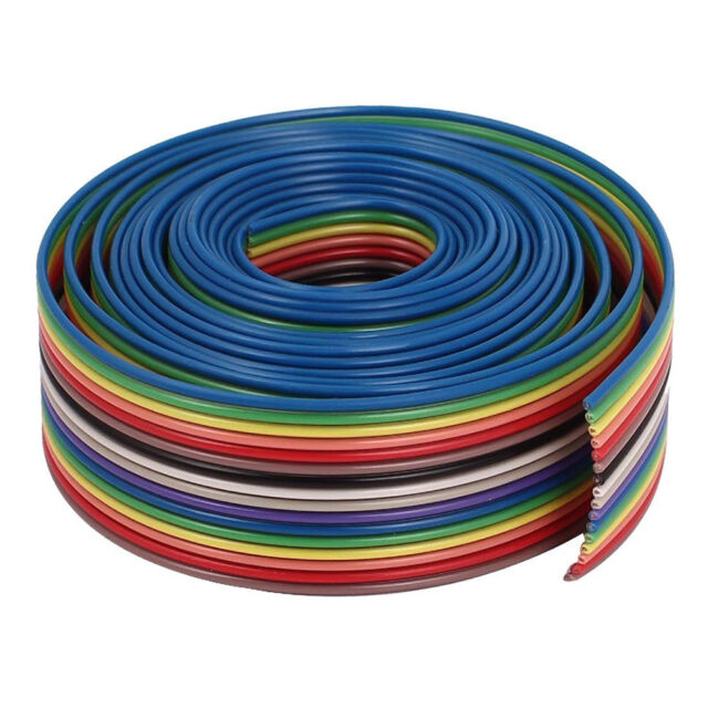 2M 2.54mm Pitch 10 Pin Wire IDC Flat Ribbon Extension Cable Male - Female
