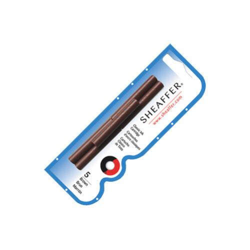 Sheaffer Skrip Ink Cartridges 5 Pack Brown 96360