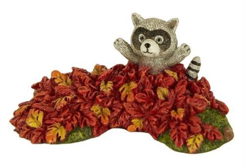 Raccoon In Leaves Mary Engelbreit Fairy Gardens Dollhouse Miniature