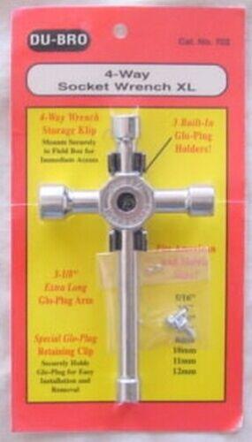 Du-Bro 4-Way Long Glow Plug Wrench  DUB702