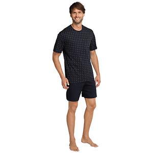 schiesser herren pyjama kurz dunkelblau ebay. Black Bedroom Furniture Sets. Home Design Ideas