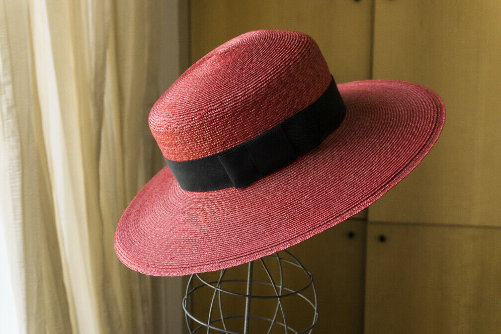 Bonwit Teller - Vintage  Straw Summer Hat - Wide … - image 1