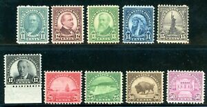 USAstamps-Unused-VF-US-1931-Rotary-Printings-Complete-set-Scott-692-701-OG-MNH