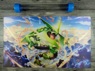 Mega Rayquaza Custom Playmat Pokemon Duel Battlefield Tcg Mat Free Best Tube 699930137803 Ebay