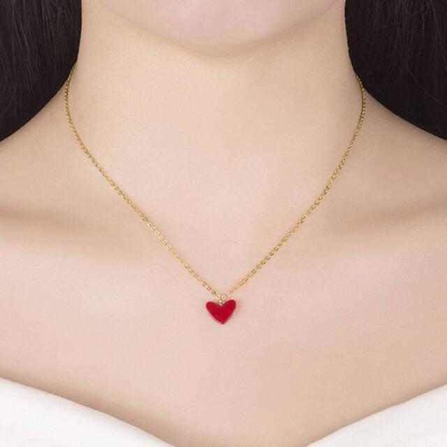 Fashion Charm Heart Shape Choker Chain Necklace Pendant Jewelry l