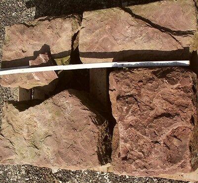 0,5 Qm Trockenmauersteine Rot Naturstein Bruchstein Buntsandstein Sandsteinmauer