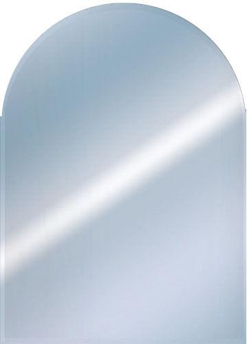 Frameless Round Top Bevelled Mirror Bathroom 50x40cm