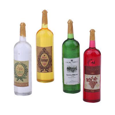 MagiDeal 6 Pieces Wine Bottles Model 1//12 Dollhouse Miniature Accessories