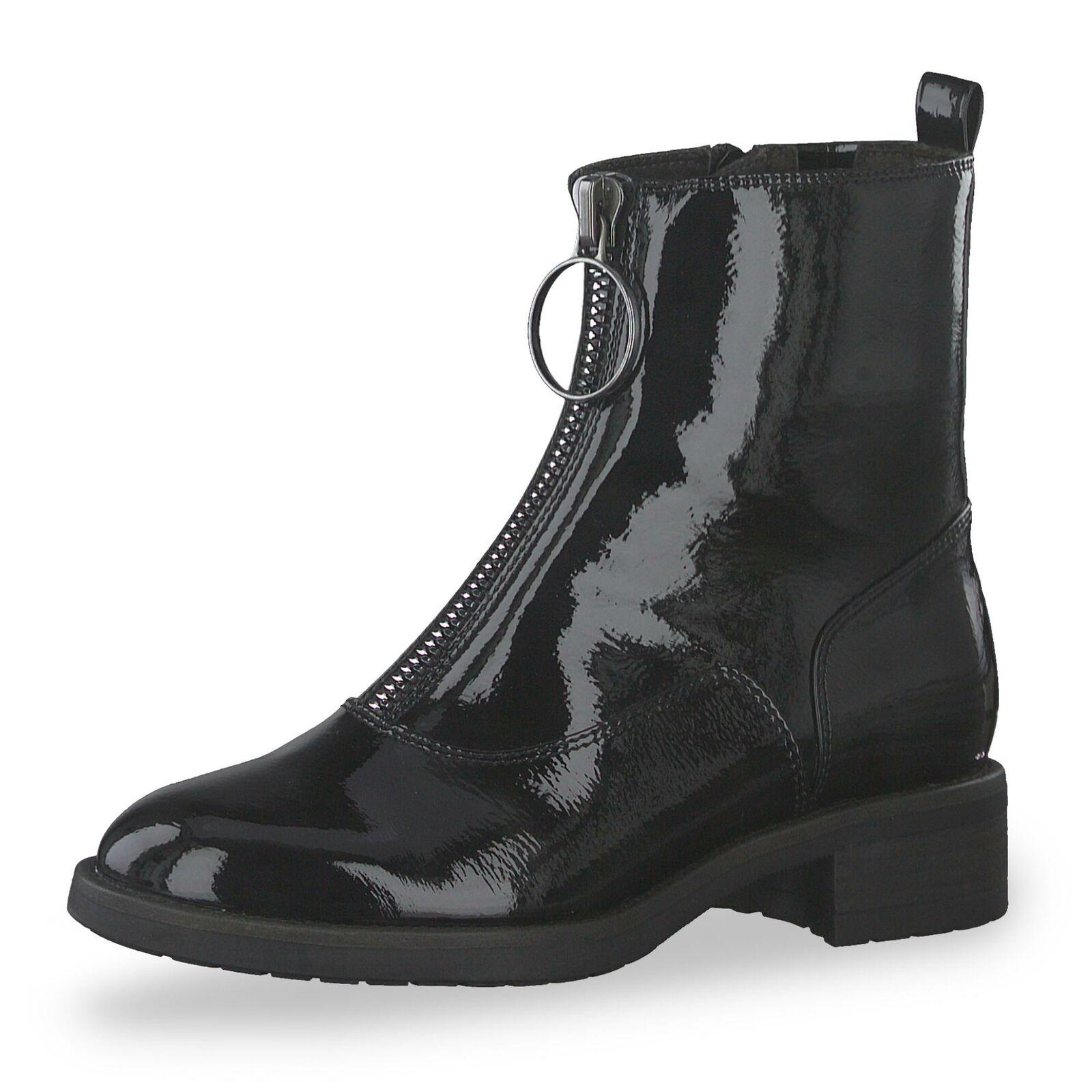 Tamaris Damen modische Stiefelette Stiefel Stiefel Herbstschuhe Schuhe schwarz